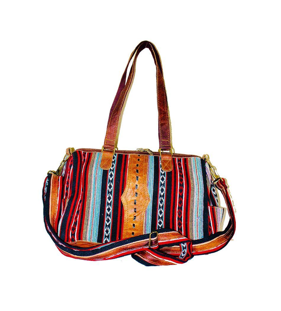 Yak Leather /& Cotton Bag-Harvard Handmade raw